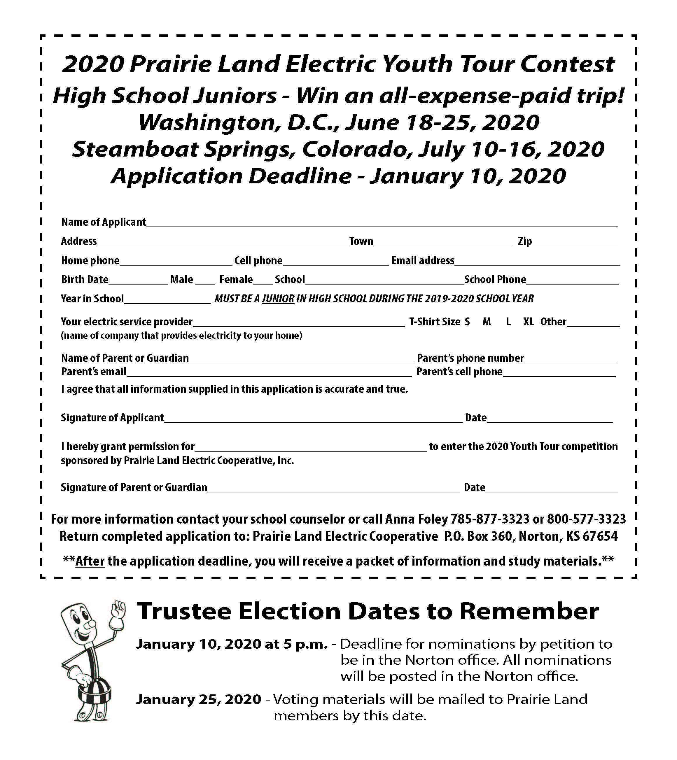 December Youth Tour Trustee Election
